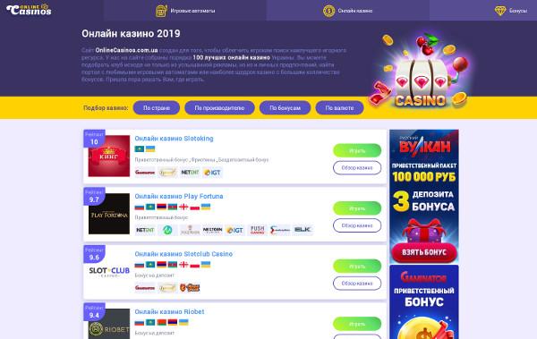 Обзор игровых площадок онлайн 2019